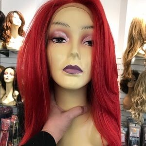 Red wig Lacefront Layers 20 inch thick wig 2019